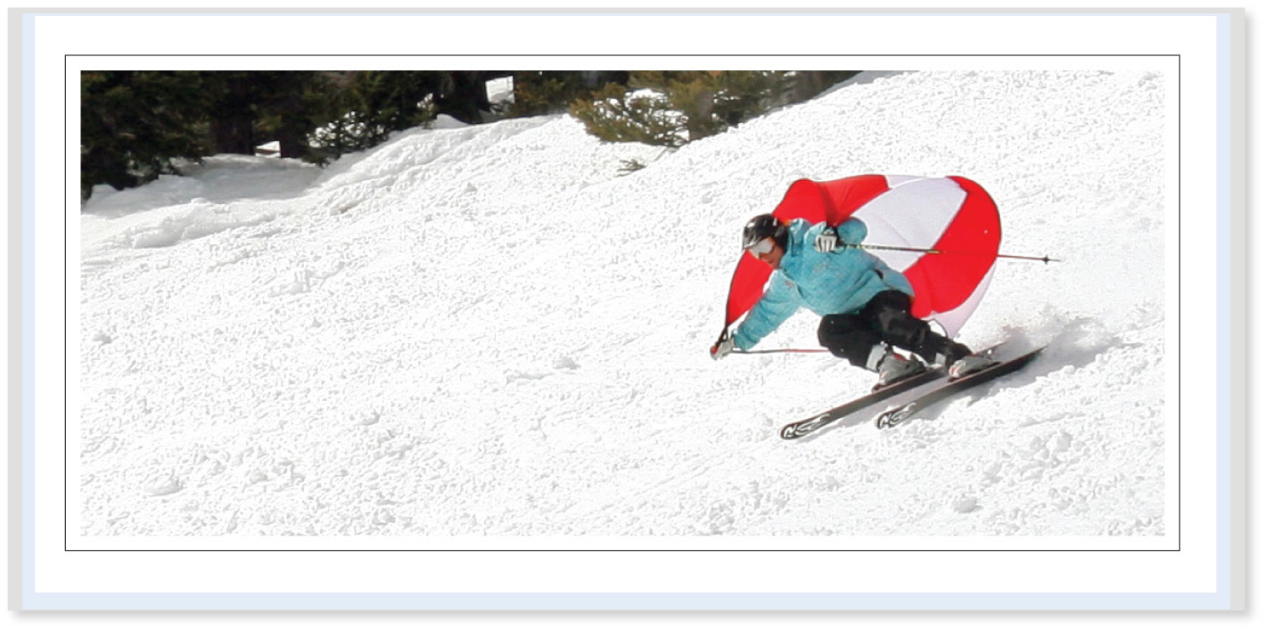 SPORTING-SAILS - The Downhill Body-Sail for Skateboarding, Skiing   & Snowboarding